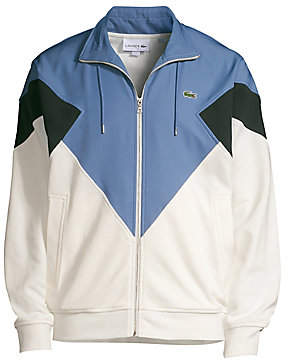 Lacoste Men's Pique Fleece & Diamond Taffeta Colorblock Jacket