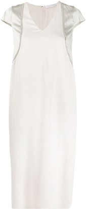 Fabiana Filippi Embellished V-Neck Dress