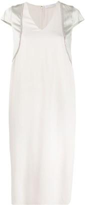 Fabiana Filippi Embellished V-Neck Dress