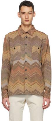 Missoni Beige Wool and Alpaca Knit Jacket