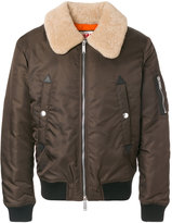 DSQUARED2 shearling collar bomber jacket - men - Polyamide/Polyester/Polyurethane/Lamb Fur - 48