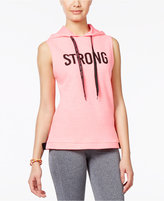 Material Girl Active Juniors' Hooded Strong Graphic Vest, Only at Macy's