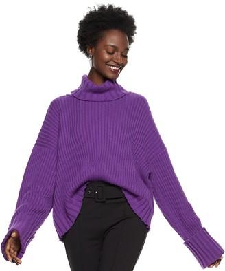 Nine West Women's Wool-Blend Turtleneck Sweater