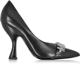 Moschino Black Leather Pump