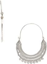 Carole Silvertone Chandelier Hoop Earrings