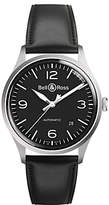 Bell & Ross BRV192-BL-ST/SCA Men's Vintage Automatic Date Leather Strap Watch, Black