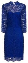 Dorothy Perkins Womens **Paper Dolls Cobalt High Neck Lace Bodycon Dress, Cobalt