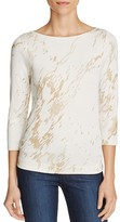 Three Dots Metallic Print Top - 100% Exclusive