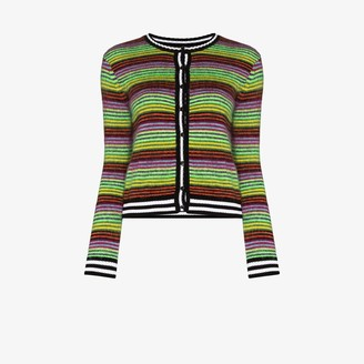 AGR Brushed Stripe Knit Cardigan