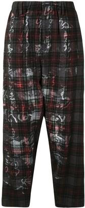 Yohji Yamamoto G-Tab check-pattern trousers