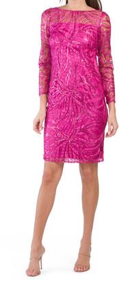 Illusion Sheath V-back Dress