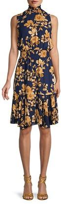 Nanette Nanette Lepore Smocked Floral Blouson Dress