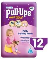 Huggies Medium Night Time Pull-Ups for Girls 11-18kg 12 per pack