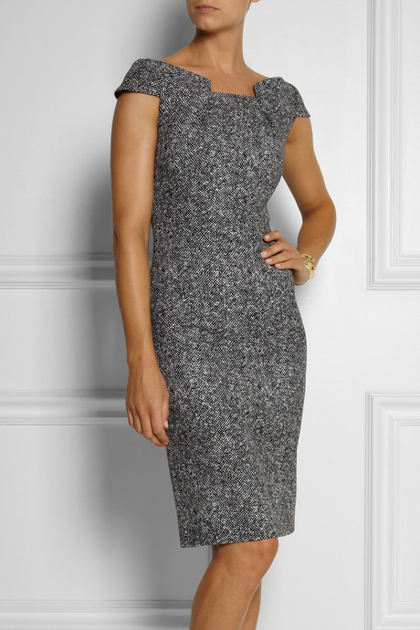 Michael Kors Origami-folded wool-tweed dress