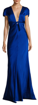 St. John Crepe Empire Bodice Bow Gown
