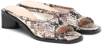 Acne Studios Snake-effect leather sandals