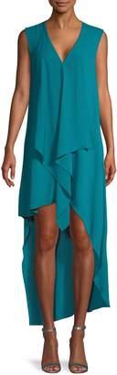 BCBGMAXAZRIA Tara Draped High-Low Dress