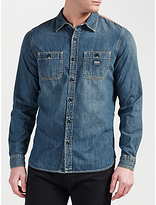 Denim & Supply Ralph Lauren Work 2 Pocket Denim Shirt, Ranger Wash Ban