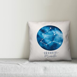 Bungalow Rose Dulin Zodiac Sign Astrological Constellation Personalized Throw Pillow