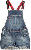 Levi's Boyfriend Cotton Denim Shortalls, Toddler Girls