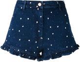 Manoush - heart denim shorts - women