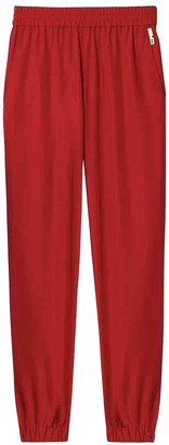 Tibi Red Synthetic Trousers