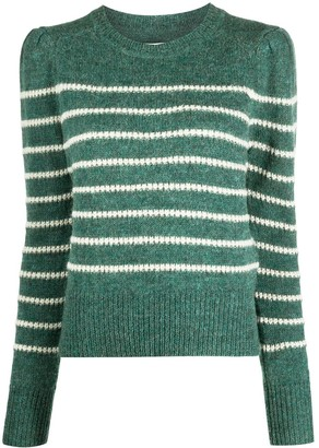Etoile Isabel Marant Striped-Print Puff Sleeves Jumper