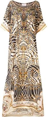 Camilla Round Neck Kaftan Dress