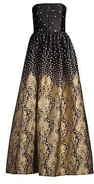 Alice + Olivia Women's Daisy Strapless Metallic Gown - Size 0