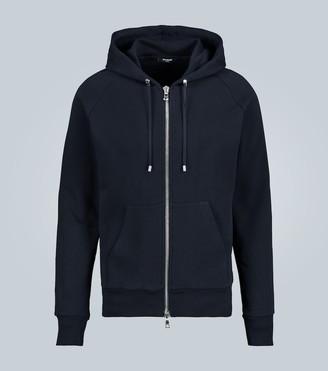 Balmain Embossed logo hooded sweatshirt