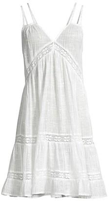 PQ Yamia Metallic-Striped Cotton Coverup Dress