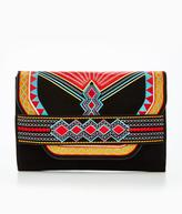 Very Aztec Embroidered Clutch