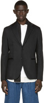 Raf Simons Black Raw Denim Blazer