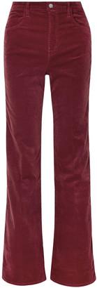 J Brand Stretch-velvet Wide-leg Pants
