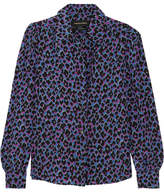 Vanessa Seward Elise Animal-print Silk Shirt - Purple