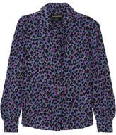 Vanessa Seward Elise Animal-print Silk Shirt