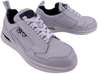 Prada Grey Leather Trainers