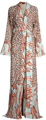 PatBO Mixed Media Sheer Robe