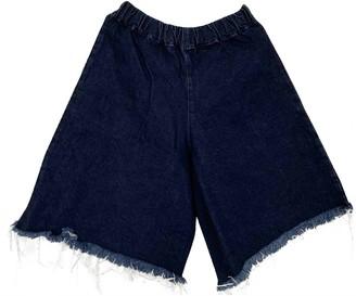 Marques Almeida Navy Denim - Jeans Shorts