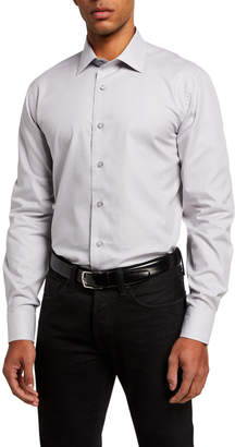 Neiman Marcus Men's Modern Fit Solid Sport Shirt