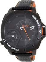 HUGO BOSS Men's Orange 1513221 Leather Quartz Watch