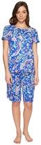 Lauren Ralph Lauren Short Sleeve Bermuda PJ Set Women's Pajama Sets