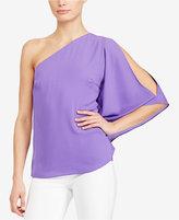 Lauren Ralph Lauren Georgette One-Shoulder Top