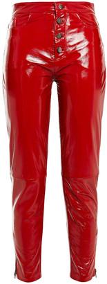 Muu Baa Muubaa Crinkled Leather Tapered Pants