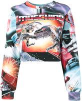 Moschino dino transformer sweatshirt