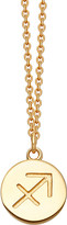 Astley Clarke Zodiac Sagittarius biography 18ct yellow gold-plated pendant