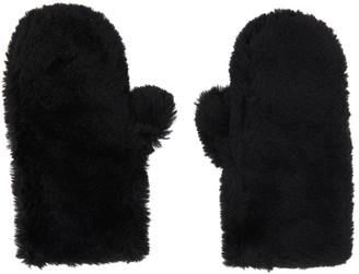 Yves Salomon Black Convertible Wool Mittens