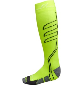 Pro Touch Balua UX Cushioned Knee High Compression Running Socks Yellow