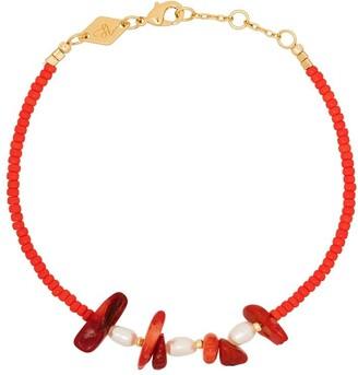 Anni Lu 18kt gold-plated Emmanuell pearl bracelet
