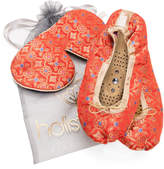 Holistic Silk Eye Mask Slipper Gift Set - Tibetan Orange (Various Sizes) - S
